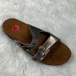 Vionic Czarina Slip-on Sandals Bronze Snake